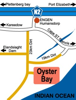 Oysterbay Directions Map