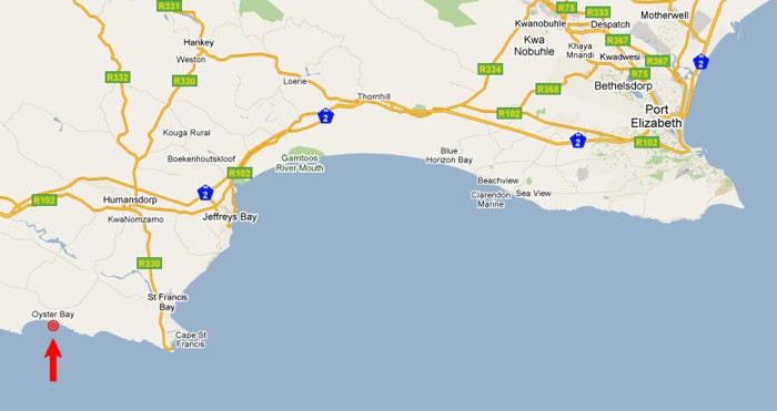 Map to Oysterbay