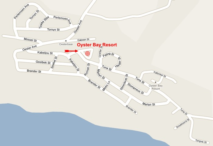 Street Map to Oyster Bay Resort